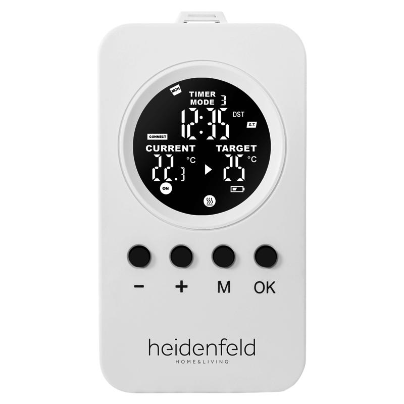 Promiennik podczerwieni Heidenfeld HF-HP130 biały, montaż sufitowy, ramka ozdobna